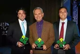 André, Paulo e Felipe: a família Octávio tem como trunfo os bisnetos do ex-presidente Juscelino Kubitschek, filhos do ex-governador(foto: @andrekubitschek/Instagram)