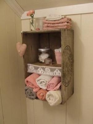 Decorao de banheiro com caixotes  CUSTOMIZANDONET