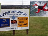 A skydiver and the Sibson Aerodrome
