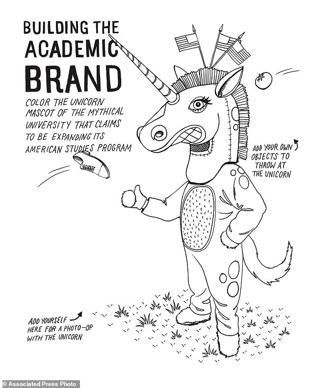 Minnesota prof's coloring book pokes fun at college life