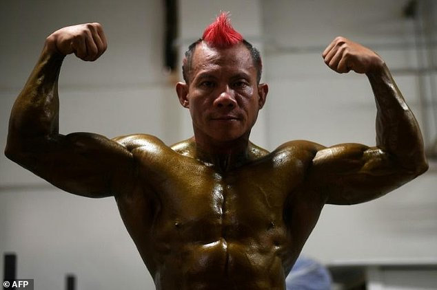 Bodybuilder Mohamad Hakimi said he was not concerned about baring -- almost -- all for the tournament.