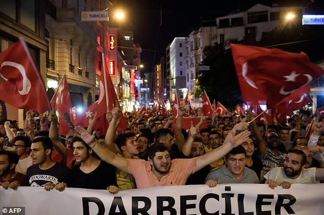 People took to the streets in Istanbul and around Turkey in support of President Recep Tayyip Erdogan as he battled to regain control during last July's attempted coup.