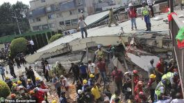 Image result for Mexico Earthquake: Rescue workers search for survivors at Primary School