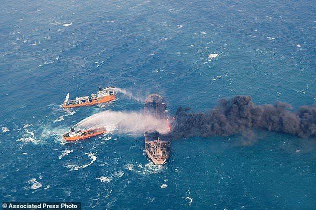 Rescuers Expand Search For Survivors Of Ship Fire Off