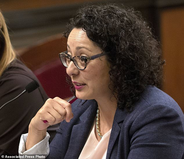 Assemblywoman Cristina Garcia (pictured), has been accused of sexual harassment by a younger, male aide and will take an unpaid leave of absence from her post as the allegations against her are investigated