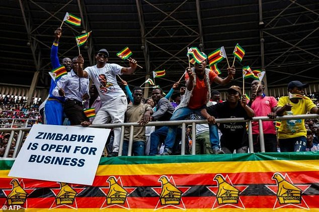 """""""My administration's focus is on the pursuit of investment-led economic recovery, job creation (and) poverty reduction,"""" Mnangagwa said"""