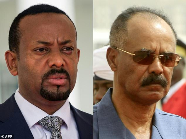 Peace: Ethiopian Prime Minister Abiy Ahmed, left, and Eritrean President Isaias Afwerki have the chance to end a dispute that has poisoned relations for years