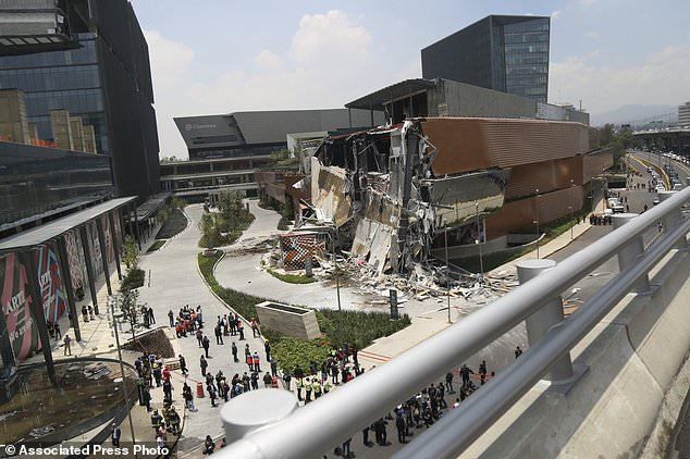 The Artz Pedregal shopping mall in Mexico City partially collapsed Thursday