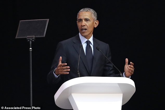 Barack Obama has revealed he is shocked at how wealthy he has become after the presidency in a speech in Johannesburg calling for higher taxes on the rich