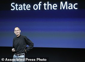 Apple CEO Steve Jobs speaks at an Apple event at Apple's headquarters in Cupertino, California.