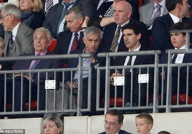 The Portuguese was at Wembley on Saturday to see Rashford score for England against Spain