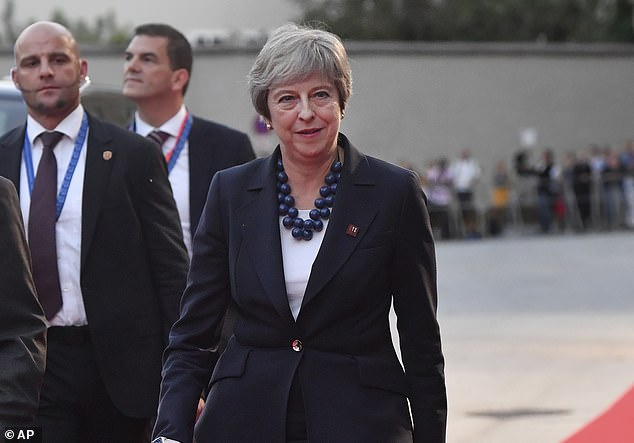 Speaking after a dinner at the Salzburg summit Mrs May told the 27 EU leaders there could be no delay on making a deal with the Brexit deadline looming