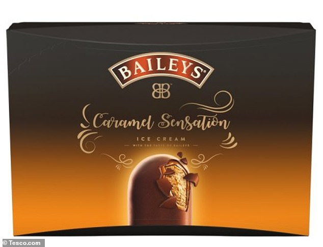 Tesco are selling packs of four Baileys Caramel Sensation ice creams that contain real alcohol.. They sell for £3.89 in the store and shoppers will need ID to get their hands on them because of the alcohol content
