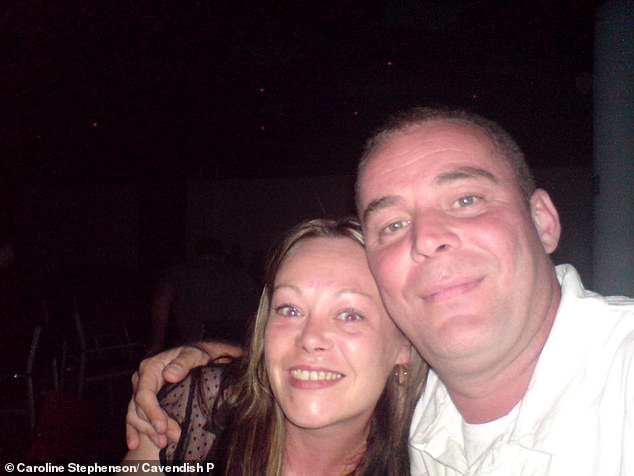 The hearing heard that Ms Stephenson (pictured with partner David Lingard)was not suffering from opioid or any other kind of drug addiction but that she was suffering from ongoing problems with managing her pain relief