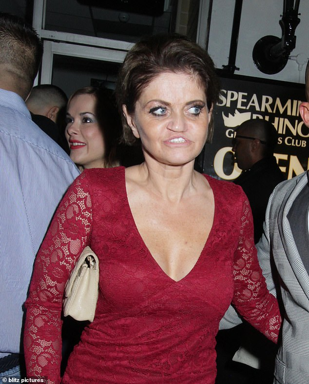 On the mend: Danniella Westbrook proved she was on the mend as she stepped out for the UK Glamour Awards in London on Thursday