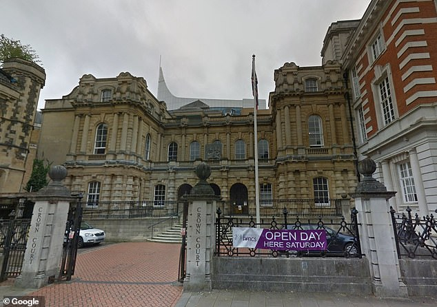Osei was jailed for five years at Reading Crown Court (pictured) for grievous bodily harm