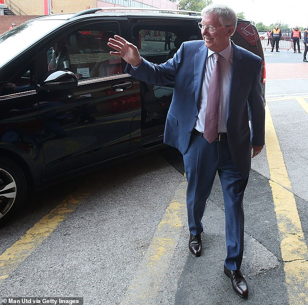 The Old Trafford great waved at well-wishers when he returned following major heart surgery