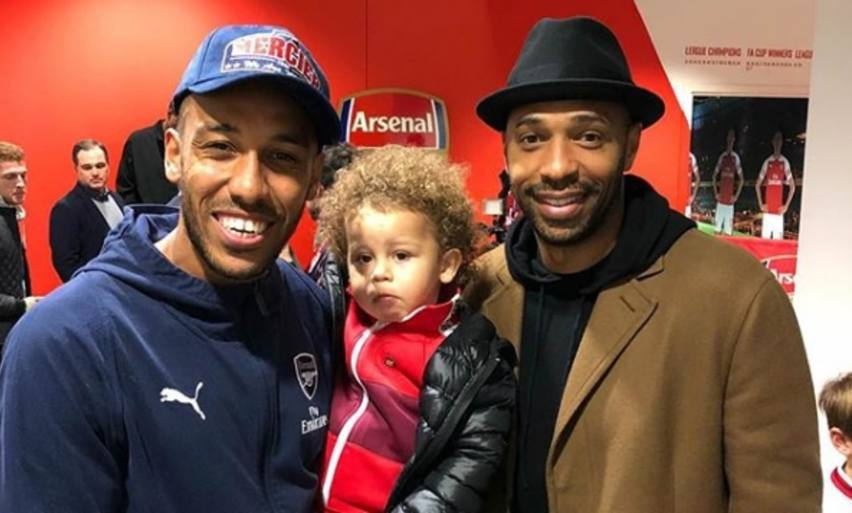Arsenal's Pierre-Emerick Aubameyang takes his son to meet 'The ...