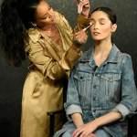 Rihanna sizzle in Gold at Fenty Beauty,Dubai
