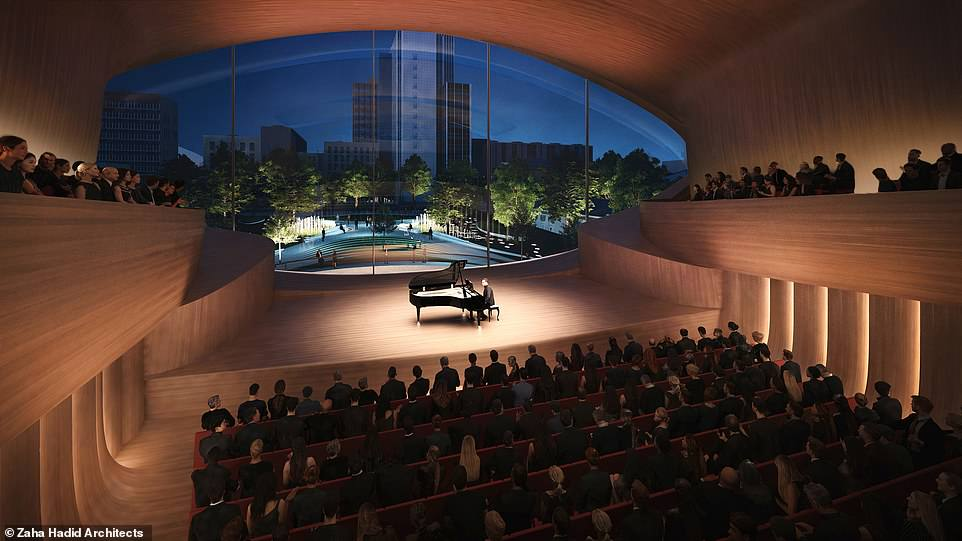 The smaller auditorium planned for the Sverdlovsk Philharmonic Concert Hall, which will be able to seat 400 guests
