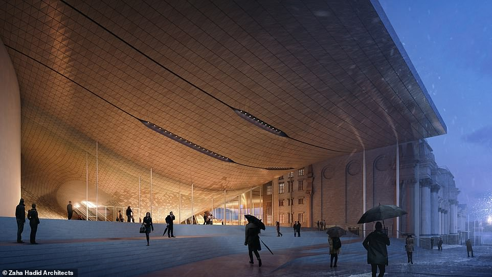 Zaha Hadid Architects was selected as part of an international design competition that saw 47 firms vying to build the new concert hall