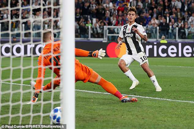 Dybala doubles his side's lead from close range after Balise Matuidi's strike was saved