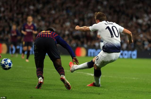 Kane got past the poor defending of Nelson Semedo before curling a delightful finish round Pique and into the far corner