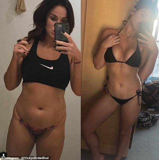 What a transformation! Vicky Pattison showed off just how far she's come on her weight loss journey with a candid before and after Instagram snap on Wednesday