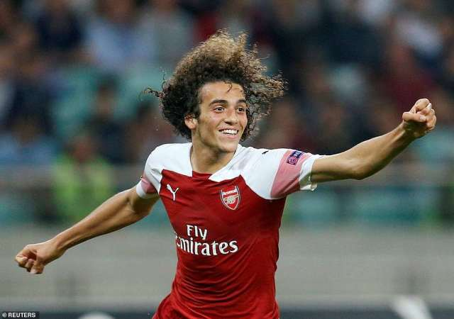 Matteo Guendouzi wrapped up proceedings by scoring Arsenal's third in the 79th minute at the Baku National Stadium