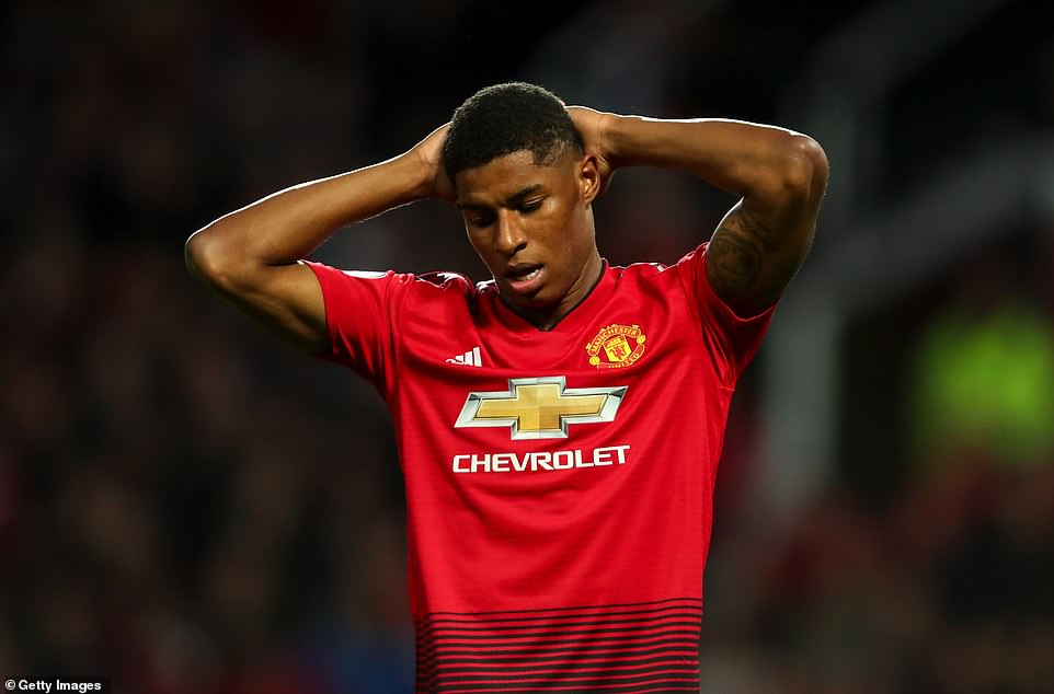 Marcus Rashford was replaced by Alexis Sanchez in the second half after failing to find the net against Newcastle