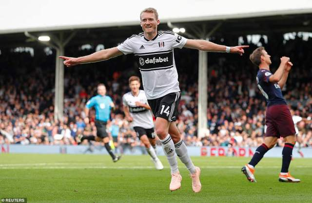 Against the run of play, Fulham found an equaliser just before half time thanks to a lovely lobbed effort by Andres Schurlle