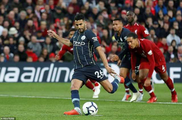 Riyad Mahrezsquandered the chance to end Manchester City's poor record at Anfield after he missed a late penalty