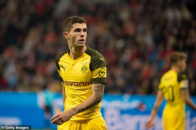 Borussia Dortmund's American winger Christian Pulisic is a strong contender for the award