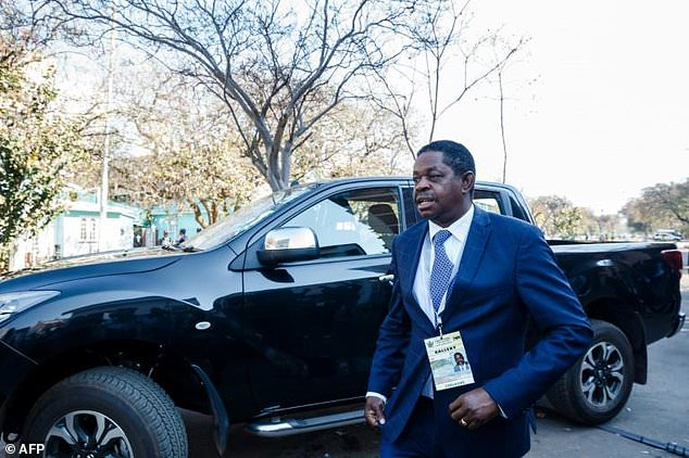 Munyaradzi Paul Mangwana head of the Zanu PF party's legal team which defended the results in court