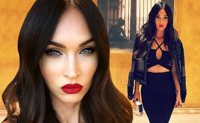Megan Fox Models Vampire Glam In Black Leather Outfit
