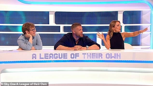 Diplomatic: Mother-of-two Geri remained diplomatic as she was quizzed on the Sky One show