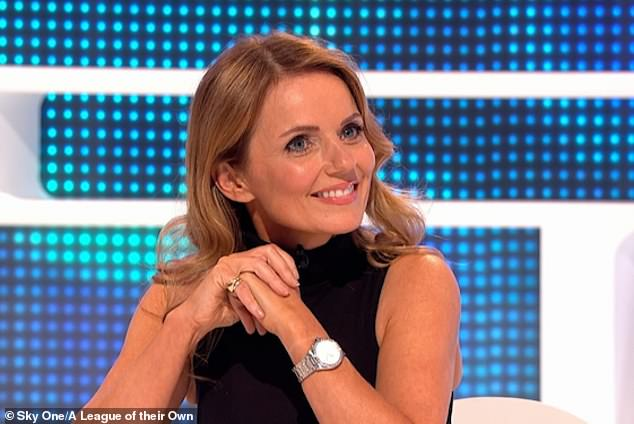 Quizzed: Geri Horner was quizzed about who her least favourite Spice Girl was when she made an appearance on Sky One's A League of Their Own, set to air on Thursday