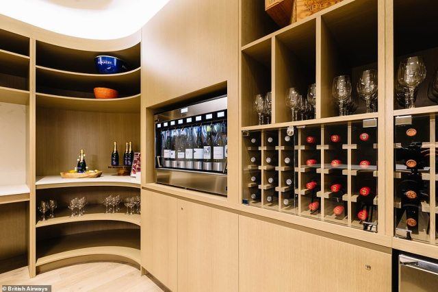 The centre-piece of the new lounge is a wine room, where customers will be able to sample 'flights of wine' - a selection of different wines linked to a theme