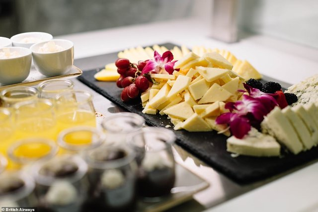As well as ordering from the boutique menu and enjoying 'bowl' food dishes, passengers can snack on cheese and biscuits