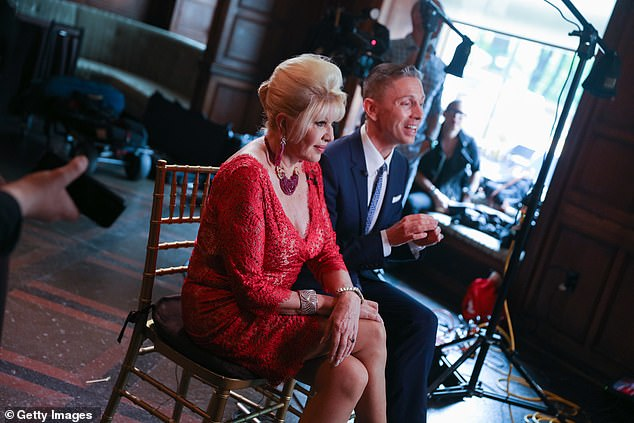 Fergie joins Ivana Trump as an ambassador for Gianluca Mech's Italiano Diet. Trump and Mech pictured together in New York in June 2018