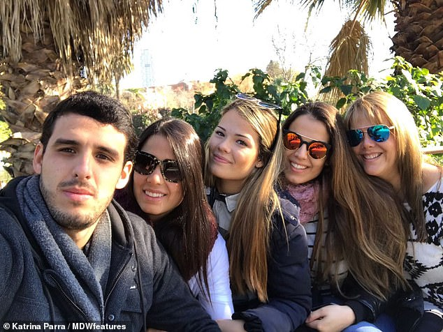 Doctors even suggested to Ms Parra's mother (right) the problem may be psychological and recommended she see a psychiatrist. Ms Parra is pictured in the centre with her siblings