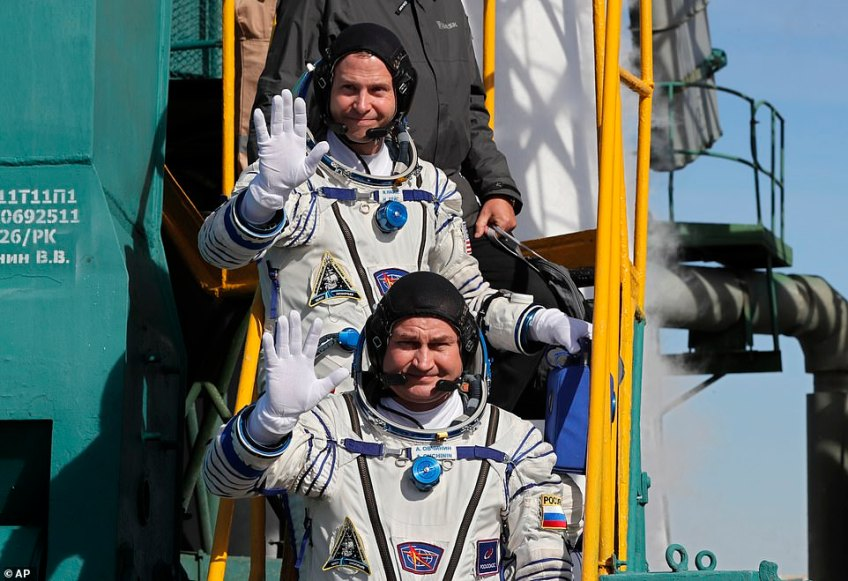 The pair had been due to dock at the International Space Station six hours after the launch but an issue just three minutes in prevented them from continuing.Thursday's failure was the first manned launch failure for the Russian space programme since September 1983 when a Soyuz exploded on the launch pad