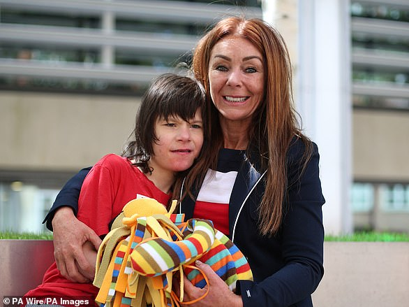 Billy Caldwell's mother, Charlotte (pictured), confiscated seven bottles of cannabis oil from customs at Heathrow Airport, leading to a dispute over cannabis oil