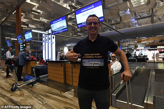Pier Messaggio, an Italian electronics designer, who will be one of the first passengers to experience the world's longest commercial flight from Singapore to New York