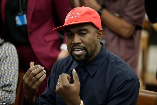 MAGA: Kanye has made wearing the president's Make America Great Again slogan his recent trademark - earning criticism from some quarters