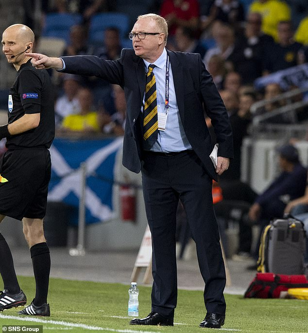 From the sidelines in Haifa, Scotland boss Alex McLeish barks instructions at his team