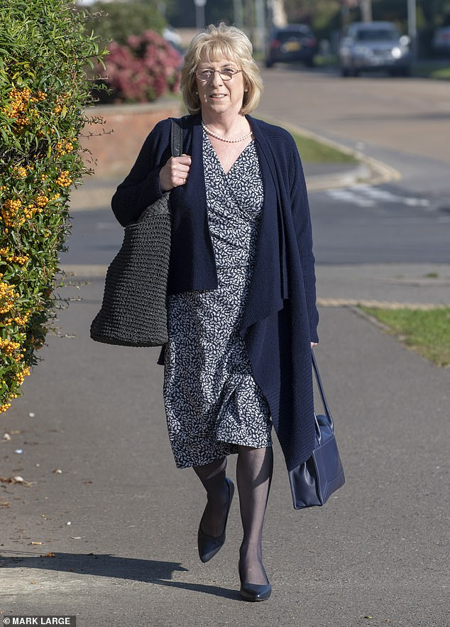 The hearing was told about how Mr Miller informed Mr Stoten and his wife Debbie (above) that he had cancer in December 2011