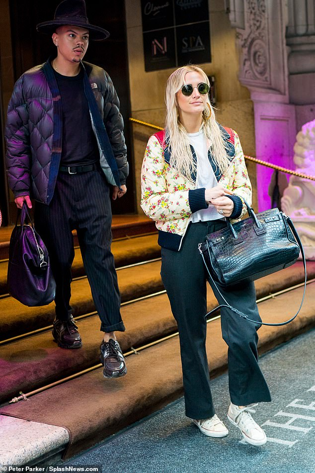Stepping out:Ashlee Simpson and Evan Ross have joined up to become a showbiz power couple, and were glimpsed stepping out in New York together Thursday