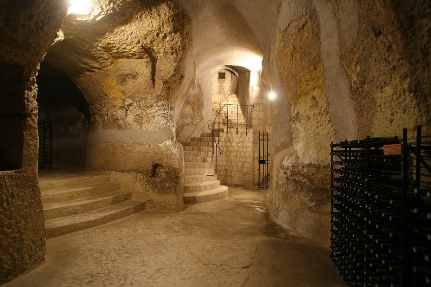 The house comes with a cellar that FrenchEntree, which is selling it, describes as a 'maze'