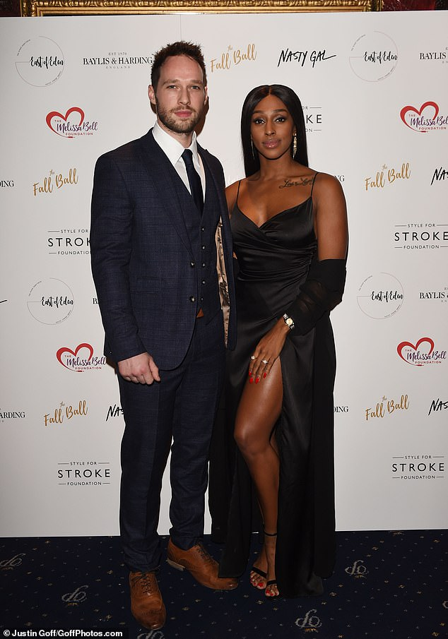 Charity gala: Alexandra walked the red carpet accompanied by her fiancé Josh Ginnelly